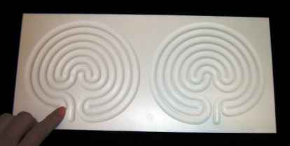 White Labyrinth Board